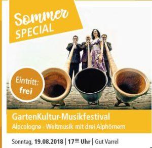 GartenKultur-Musikfestival @ Gut Varrel | Stuhr | Niedersachsen | Deutschland