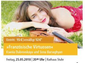 Französische Virtuosen @ Rathaus Stuhr | Stuhr | Niedersachsen | Deutschland