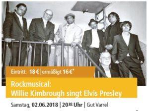 Willie Kimbrough singt Elvis Presley @ Gut Varrel | Stuhr | Niedersachsen | Deutschland