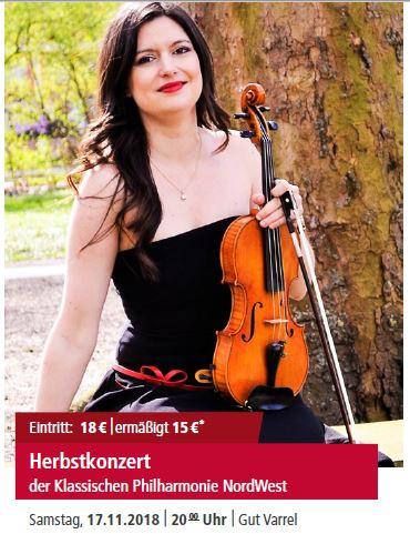 Herbstkonzert der Klassischen Philharmonie NordWest @ Gut Varrel | Stuhr | Niedersachsen | Deutschland