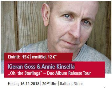 Kieran Goss & Annie Kinsella @ Rathaus Stuhr | Stuhr | Niedersachsen | Deutschland